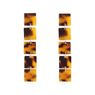 billige Moteøreringer-Dame Dråpeøreringer geometriske Europeisk trendy Mote Moderne Harpiks øredobber Smykker kaffe / Beige / Hvit Til Fest Daglig Gate Ferie Arbeid 1 par