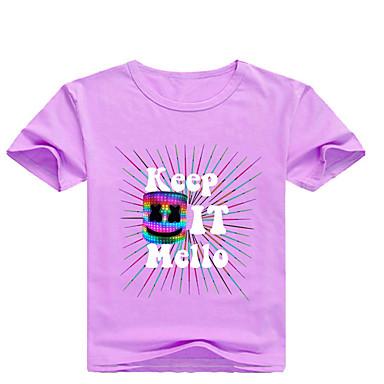 99d576bc5d240 Çocuklar Toddler Genç Erkek Temel Desen Desen Kısa Kollu Pamuklu Splandeks  Tişört Doğal Pembe