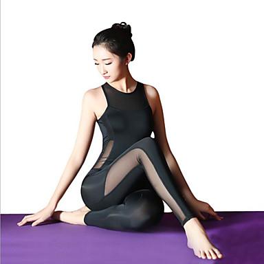 3917359b2c Balett Akrobatatrikó / Szertornász köpenyek Női Edzés / Teljesítmény  Elasztikus / Elasztán Kombinált Ujjatlan Magas Akrobatatrikó / Egyrészes