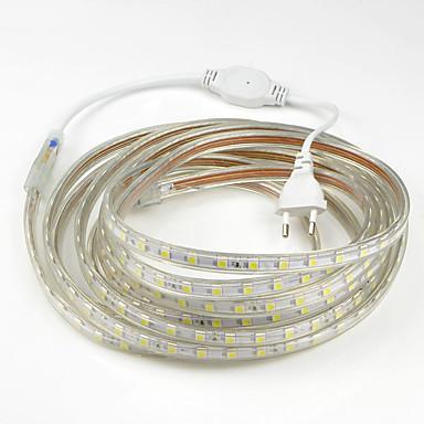 billige LED Strip Lamper-15 m Fleksible LED-lysstriper 900SMD LED 5050 SMD Varm hvit / Hvit / Rød Vanntett / Kuttbar / Fest 220-240 V