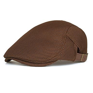 billige Hodeplagg til fest-Bomull / Polyester Hatter / Hodeplagg med Kasket / Solid 1 Deler Dagligdagstøy / utendørs Hodeplagg