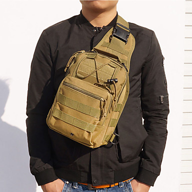 0f8e5a996 Men's Zipper Sling Shoulder Bag Canvas Color Block Military Green / Camel /  Khaki / Fall & Winter