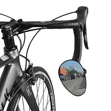 billige Sykkeltilbehør-Bakspeil Sykkelspeil til styret Justerbare Holdbar Enkel å installere Stor baksynsvinkel Verneutstyr Til Fjellsykkel Foldesykkel Fritidssykling Sykling PVC Svart