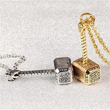 billige Mote Halskjede-Herre Dame Oppheng geometriske Kreativ Mote Titanium Stål Brosje Smykker Gull Sølv Til Gave Daglig