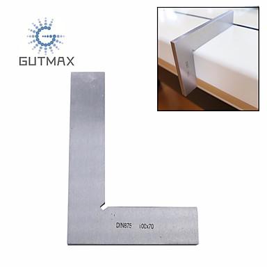 voordelige Test-, meet- & inspectieapparatuur-90 graden hoek heerser roestvrij staal vierkante liniaal meetgereedschap 1st hy67