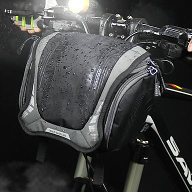 billige Sykkelvesker-3 L Vesker til sykkelstyre Skulderveske Vanntett Bærbar Anvendelig Sykkelveske Lerret Nylon Sykkelveske Sykkelveske Sykling Utendørs Trening Sykkel