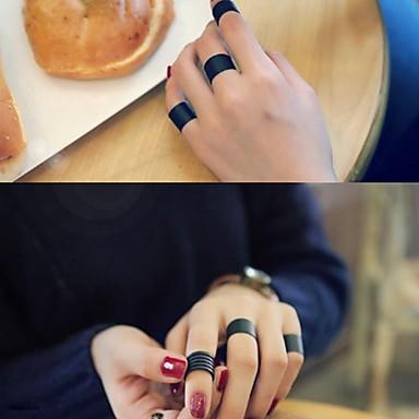 voordelige Herensieraden-Heren Dames manchet Ring Ring Set Open Ring 3 stuks Zwart Legering Cirkelvorm Stijlvol Eenvoudig Vintage Feest Lahja Sieraden Retro / Verstelbare ring