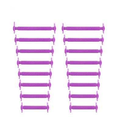 abordables Accessoires pour Chaussures-Toile Lacet Unisexe Quotidien Gris clair / Rouge / Rose
