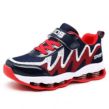 baratos Sapatos de Criança-Para Meninas Tricô Tênis Little Kids (4-7 anos) / Big Kids (7 anos +) Conforto Corrida Preto / Azul Primavera / Outono / Borracha