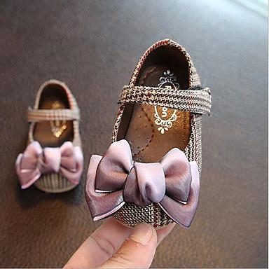 저렴한 9개월-4세 연령대-여아 면 플랫 유아 (0-9m) / 유아 (9m-4ys) 플라워 걸 신발 블랙 / 핑크 여름