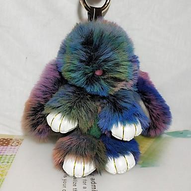 voordelige Dames Sieraden-Sleutelhanger Rabbit Informeel Dierenhuidpatroon Modieus Modieuze ringen Sieraden Bruin / Groen / Blauw Voor School Straat