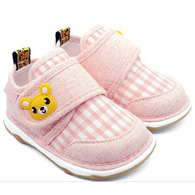 voordelige Babyschoenentjes-Meisjes Comfortabel / Eerste schoentjes Katoen Laarzen Zuigelingen (0-9m) Blauw / Amandel / Licht Roze Lente / Korte laarsjes / Enkellaarsjes