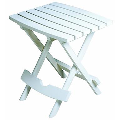 בחוץ פאטיו קיפול מהיר צד שולחן לבן שרף מזג האוויר עמיד