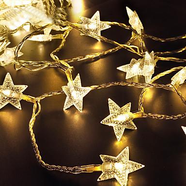 lende 2m 20 מורות מחרוזת אורות חם לבן / rgb / לבן השמש מופעל חג המולד חג החתונה קישוט צד התאורה