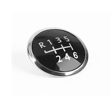 voordelige Auto-interieur accessoires-Snelheid Derailleurknop 6 Stick Cap Cover Cap Garneer Embleem Hood Style Auto Decoratieve Cover Zilveren Cover voor VW Transporter T5 / T5.1