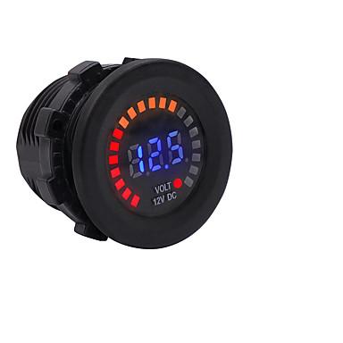povoljno Mjerač tlaka u gumama-12v auto motocikl jahti morski boja zaslon voltmetar vodio digitalni prikaz voltmetar instrument