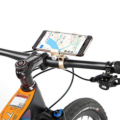 billige Sykkeltilbehør-Telefonstativ til sykkel Justerbare Anti-Skli Anti-Ryste / Demping til Vei Sykkel Fjellsykkel Aluminum Alloy Sykling Blå Grå Lysebrun