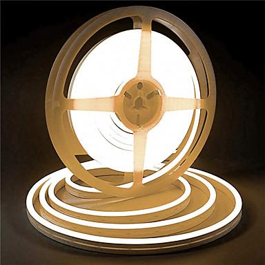 abordables Bandes Lumineuses LED-Le silicone de 5m 12v a mené des lumières de bande imperméables flexibles au néon de corde pour des lettres décoratives extérieures de diy