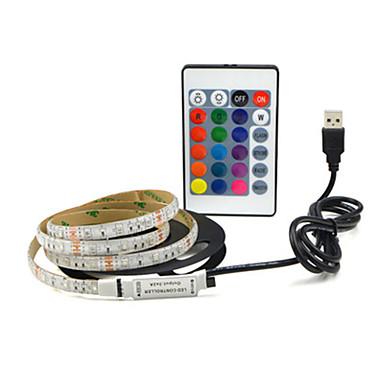 billige LED Strip Lamper-4m Fleksible LED-lysstriper 240 LED SMD2835 Dekorativ / Selvklebende 5 V 1set