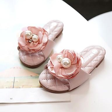 בנות נוחות / נעליים לילדת הפרחים מיקרופייבר כפכפים & כפכפים ילדים / מתבגר פפיון ורוד בהיר / קריסטל אביב / קיץ / גומי