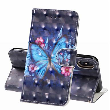 hesapli iPhone Kılıfları-Apple iphone xs iphone xs için kılıf telefon kılıfı pu deri malzeme 3d boyalı desen telefon kılıfı için iphone xr x 8 artı 7 artı 8 7 6 s artı 6 artı 6 s 6