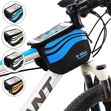 abordables Sacoches de Vélo-Sac de téléphone portable 5.8 pouce Cyclisme pour iPhone 8/7/6S/6 iPhone 8 Plus / 7 Plus / 6S Plus / 6 Plus iPhone X Argent Orange Bleu Ciel Vélo Cyclisme