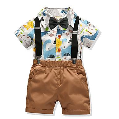 povoljno Kompletići za dječake-Djeca Dječaci Osnovni Geometrijski oblici Kratkih rukava Poliester Komplet odjeće Obala