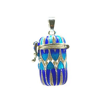 abordables Collier-Femme Pendentif Médaillon Broche Bijoux Bleu Pour Quotidien Plein Air