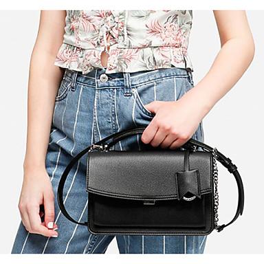 preiswerte Taschen-Damen Reißverschluss Schultertasche PU Schlangenhaut Schwarz / Kaffee
