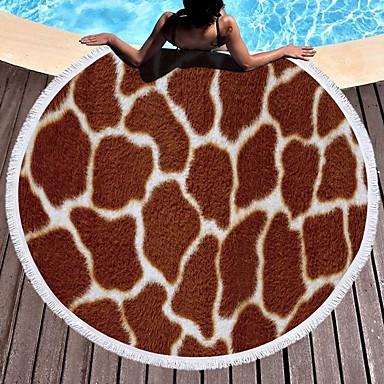 איכות מעולה מגבת חוף, חיה פולי / כותנה 1 pcs