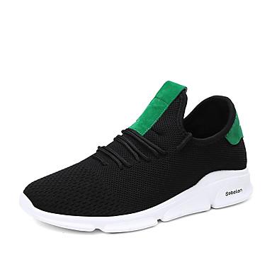 בגדי ריקוד גברים נעלי נוחות רשת אביב קיץ / סתיו חורף ספורטיבי / יום יומי נעלי אתלטיקה נושם אפור / שחור / ירוק / לבן וירוק