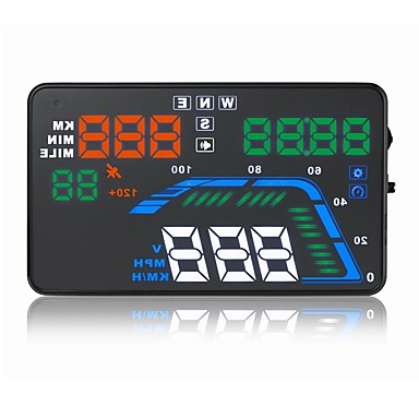 voordelige Automatisch Electronica-5.6 inch(es) LED Head Up Display LED-indicator voor Automatisch Meet de rijsnelheid