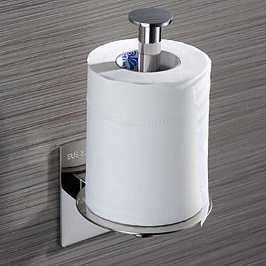מחזיק נייר טואלט יצירתי עכשווי פלדת על חלד 1pc - חדר אמבטיה מותקן על הקיר