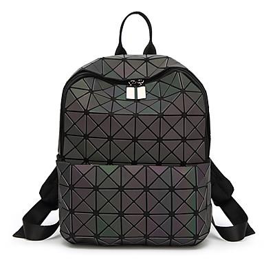 preiswerte Taschen-Damen Taschen PVC Rucksack Ausgehöhlt Geometrische Muster Schwarz
