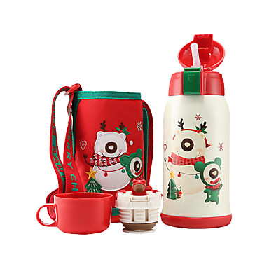 drinkware גביע אבק פלדת על חלד / מתכת אל חלד / PP(פוליפרופילן) נייד / אנימציה / חיזוק חום חג מולד / מתנה