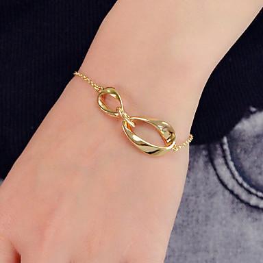 בגדי ריקוד נשים שרשרת וצמידים גיאומטרי מאונך עיצוב מיוחד אופנתי Chrome צמיד תכשיטים זהב עבור Party עבודה פֶסטִיבָל