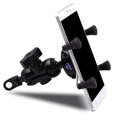 voordelige Auto-interieur accessoires-motorfiets mobiele telefoon beugel voor 3.5-6 inch telefoon voertuig usb lader met schakelaar