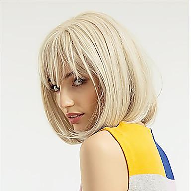שיער ראמי חזית תחרה פאה תספורת בוב בסגנון שיער ברזיאלי ישר טבעי מוזהב פאה 130% צפיפות שיער מתכוונן נשים סלסול & סטריינר נוער בגדי ריקוד נשים אורך בינוני פיאות תחרה משיער אנושי PERFE