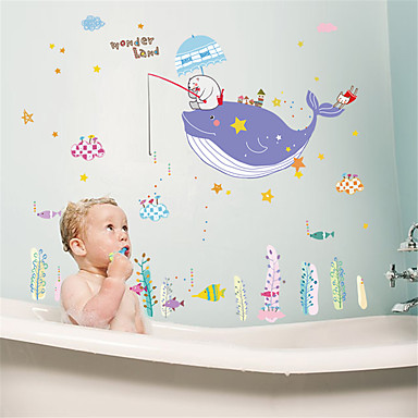 מדבקות קיר דקורטיביות - מדבקות קיר מטוס חיות חדר שינה / פנימי