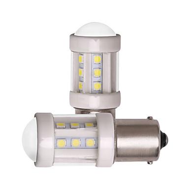 preiswerte Bremslichter-2 stücke 1156 ba15s 1157 bay15d auto led glühbirnen super helle 7 watt 12 v 24 v smd 3030 18 led lampe keramik weiß für blinker bremslicht parken rücklicht nebelscheinwerfer