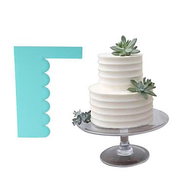 1pc פלסטי עיצוב חדש יום הולדת Cake לעוגה מלבני שפכטלים אפייה & Pastry כלי Bakeware