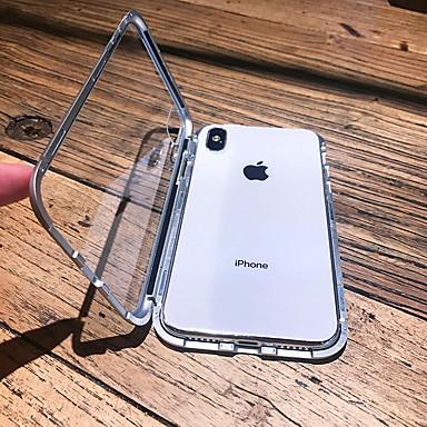 hesapli iPhone Kılıfları-Apple iphone xs max / iphone x manyetik / şeffaf tam vücut kılıfları katı renkli sert metal iphone 6 için / iphone 6 artı / iphone 6 s