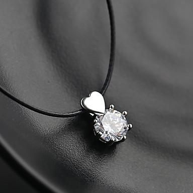 billige Halskjeder-Dame Sølv Anheng Halskjede Zirkonium Sølv 36 cm Halskjeder Smykker 1pc Til Bryllup Festival