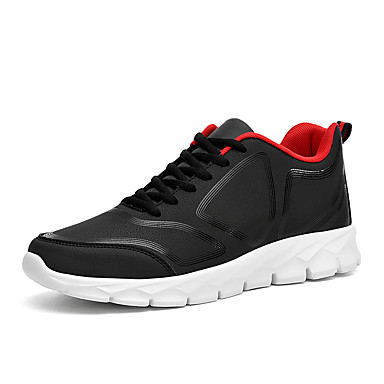 cheap Featured Deals-Men's Comfort Shoes Faux Leather Spring & Summer / Fall & Winter Casual Athletic Shoes Non-slipping Black / Gray