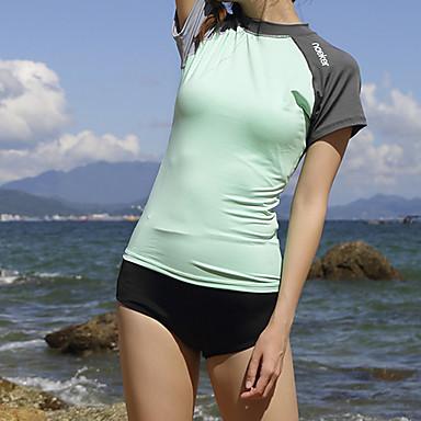 בגדי ריקוד נשים בגדי ים צמרות הגנה מפני השמש UV ייבוש מהיר שרוולים קצרים שחייה צלילה טלאים סתיו אביב קיץ / גמישות גבוהה