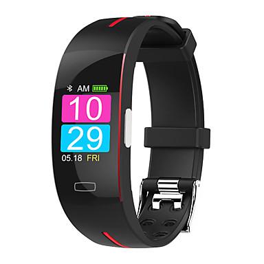 hesapli Akıllı Bileklikler-ST3 Erkek Akıllı Bilezik Android iOS Bluetooth Su Geçirmez Dokunmatik Ekran Kalp Ritmi Monitörü Kan Basıncı Ölçümü Sporlar EKG + PPG Kronometre Pedometre Arama Hatırlatıcı Aktivite Takipçisi