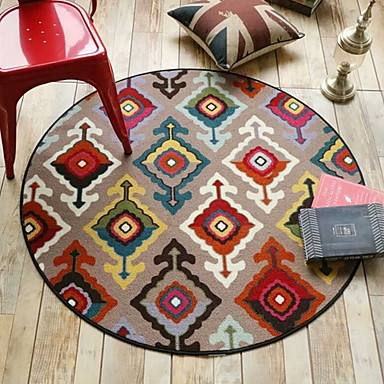 שטח שטיחים מודרני polyster, עגולות איכות מעולה שָׁטִיחַ