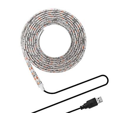 kwb 250cm fleksible usb led lysstriper 150 lys smd5050 10mm hvit / varm hvit fest / egnet for kjøretøy / tv bakgrunn 5 v 1 sett