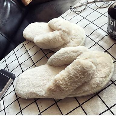 voordelige Damespantoffels & slippers-Dames Slippers & Flip-Flops Platte hak Ronde Teen Suède Zomer Zwart / Fuchsia / Leger Groen