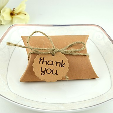 abordables Support de Cadeaux pour Invités-Rectangulaire Carton Titulaire de Faveur avec Bandeau Boîtes à cadeaux / Boîtes Cadeaux - 100pcs